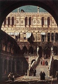Giovanni Antonio Canal, il Canaletto - Scala dei Giganti - WGA03967.jpg