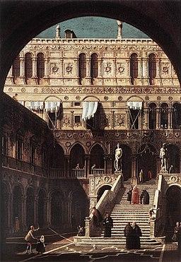Giovanni Antonio Canal, il Canaletto - Scala dei Giganti - WGA03967