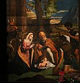 Giovanni e Bernardino da Asola, pala di san giuseppe, xvi secolo, 07 adorazione del bambino.jpg
