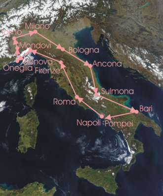 1911 Giro d'Italia - Overview of the stages:
