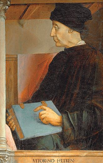 Vittorino da Feltre - Portrait of Vittorino da Feltre, by Pedro Berruguete and Giusto di Gand, c.1474.