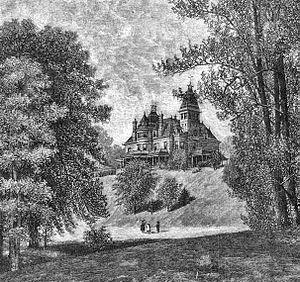 Glenview Mansion - Image: Glenview Mansion 1886 engraving
