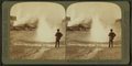 Glittering spray from 'Constant' Geyser, and steam from 'Black Growler,' Yellowstone Park, U.S.A, by Underwood & Underwood.png