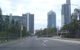 Gold Coast Highway - Northbound towards Beach Road, Surfers Paradise