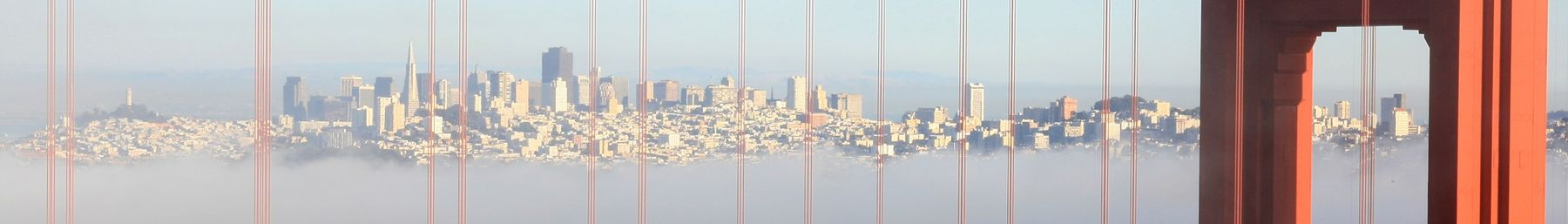 San Francisco viewed through the Golden Gate Bridge