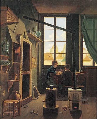 Goldsmith - European goldsmith workshop about 1830.