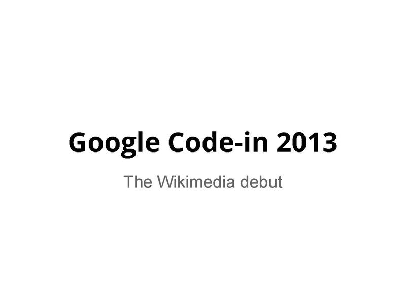 File:Google Code-in 2013, the Wikimedia debut.pdf