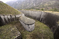 Gorazda fortress ditch and caponier.jpg