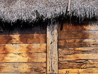 Post-and-plank - Bunge Museum in Gotland, 17th century. The wall planks fit into grooves in the posts