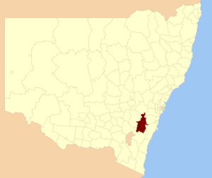 Goulburn Mulwaree Council - Location in New South Wales
