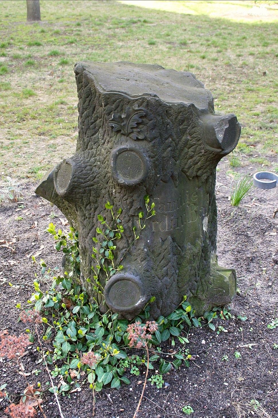 Grabstein Friedhofspark Freireligioese Gemeinde Berlin Prenzlauer Berg