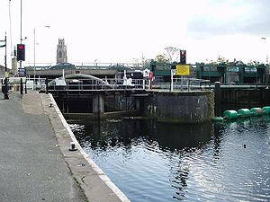 River Witham - The Grand Sluice at Boston, where the River Witham empties into The Haven, which is tidal below this point