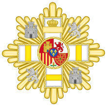 Grand Cross of the Military Merit (Spain) - Yellow Decoration.svg