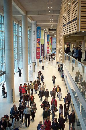 Grande Bibliothèque - The main entrance hall of the GB.
