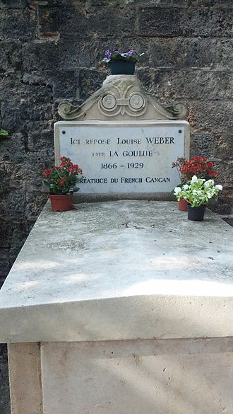La Goulue - The Montmartre Cemetery grave of Louise Weber, known as La Goulue, creator of the French Can-can