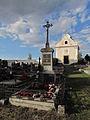 Grave of priests from Hostim at Hostim cemetery, Znojmo District.JPG