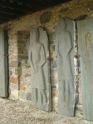 Kilberry - Late medieval grave slabs at Kilberry