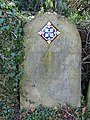 Gravestone with tile, 1878, St. Peter's, Lugwardine - geograph.org.uk - 723448.jpg