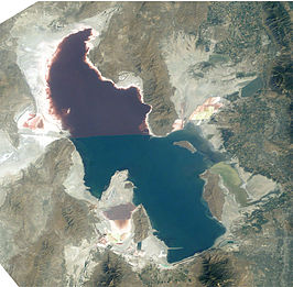 Great Salt Lake, foto genomen vanuit het International Space Station