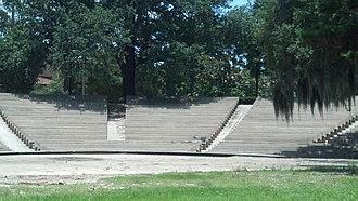 Greek Theatre (Baton Rouge) - Image: Greek Theatre (Baton Rouge, LA) Side Stage View