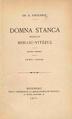 Grigore G. Tocilescu - Domna Stanca, socia lui Mihaiu-Vitézul - studiu istoric - 1560-1604.pdf