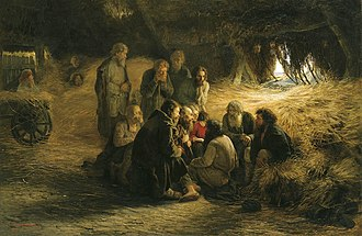 Emancipation reform of 1861 - Peasants Reading the Emancipation Manifesto, an 1873 painting by Grigory Myasoyedov
