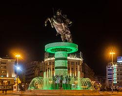 Guerrero a caballo, Skopie, Macedonia, 2014-04-17, DD 100.JPG