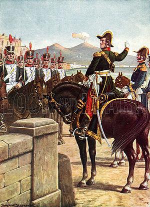 Guglielmo Pepe - Guglielmo Pepe on the Ponte della Maddalena in Naples