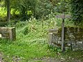 Guide post on the Calderdale Way - geograph.org.uk - 1479467.jpg