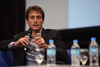 Guillermo Barros Schelotto - Guillermo during a master lecture in 2014.