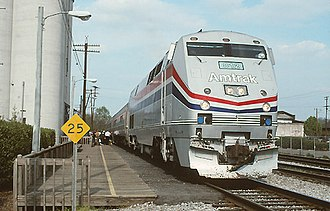 Gulf Breeze (train) - The Gulf Breeze at Montgomery in March 1995, days before being discontinued