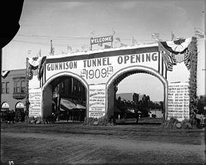 Gunnison Tunnel - Celebration on opening of the Gunnison Tunnel, 1909