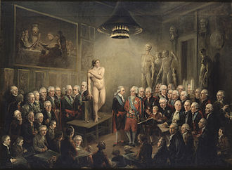 1782 in Sweden - Gustav IIIs visit to the Royal Academy of Arts
