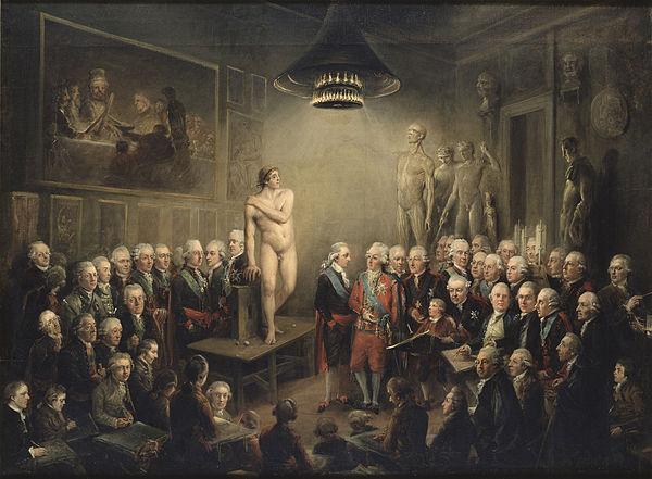 Gustav III besöker konstakademien