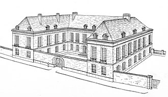 Petit Luxembourg - Image: Hôtel de François de Luxembourg, reconstitution par Hustin 1910 p 80 (cropped)