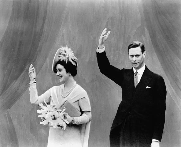 H.R.H. King George VI and Queen Elizabeth visit the Canadian Pavilion at the World's Fair