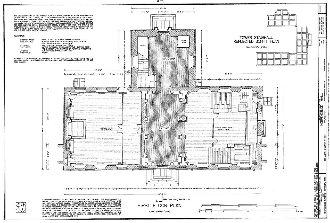 File Habs Measured Drawing Of The First Floor Of