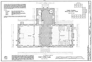 floor plan, first floor
