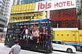 HK 上環 Sheung Wan 德輔道西 Des Voeux Road 宜必思世紀軒 IBIS Hotel name sign Sept 2018 IX2 tram body ads Parisian Macau.jpg