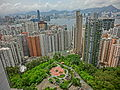 HK North Point Mid-Levels Summit Court view Victoria Harbour n Kowloon mountains June-2014.JPG
