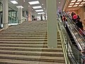 HK TST night Harbour City stone stairs n Escalators Mar-2013.JPG