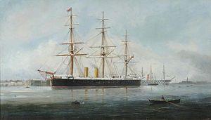 HMS Hercules (1868) - Image: HMS Hercules by Henry Morgan