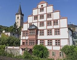 The Hilchenhouse in Lorch at Rhine River