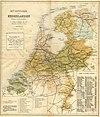 100px hua 832336 kaart van het spoorwegnet van nederland volgens de situatie van 1899 met in tabel de aangeving van de lengtes van de afzonderlijke spoorlijnen