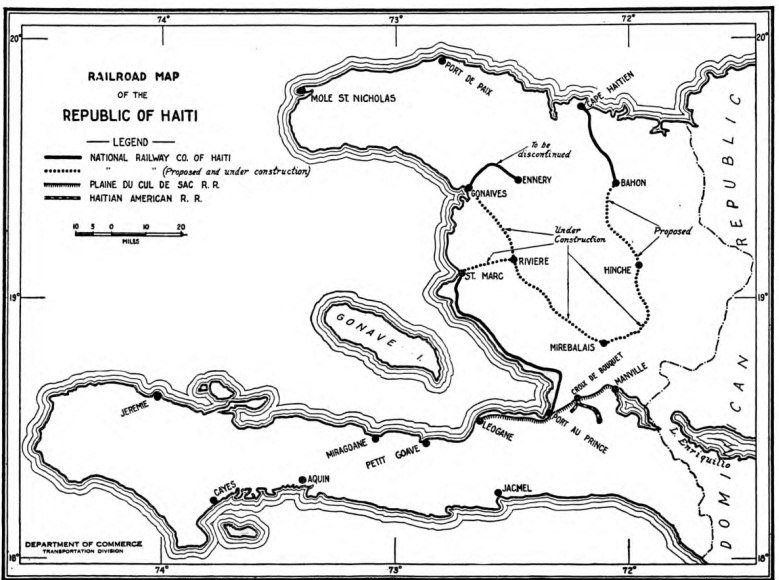 Haiti rail map 1925