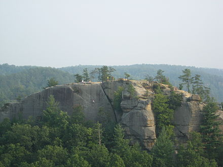 Red River Gorge is one of Kentucky's most visited places. Half Moon, Kentucky.JPG