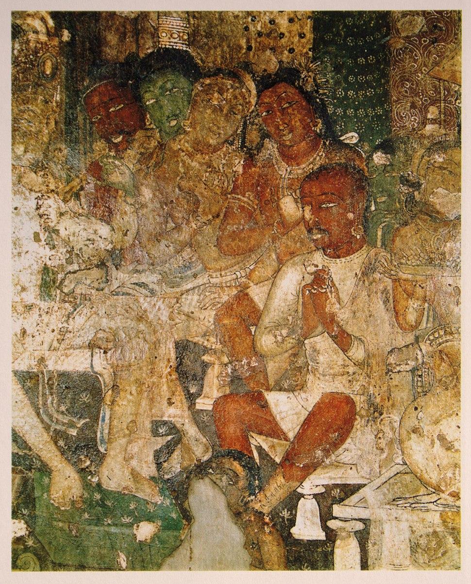 Hamsa jâtaka, Ajanta, India