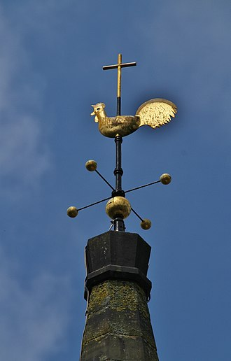 St Mary's Church, Handsworth, Sheffield - Weathercock on top of the spire