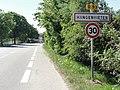 Hangenbieten (Bas-Rhin) city limit sign.jpg