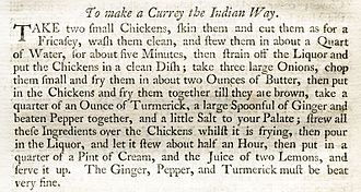 The Art of Cookery Made Plain and Easy - Receipt To make a Currey the Indian Way, on page 101